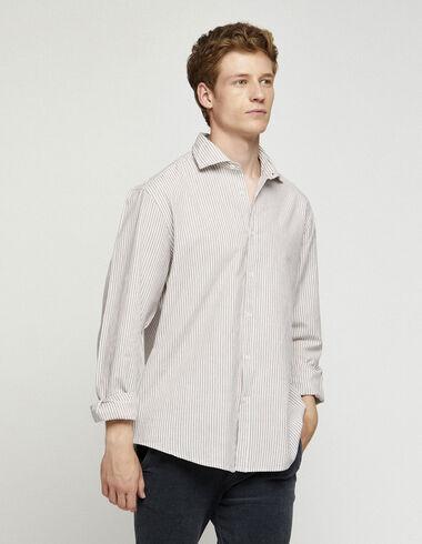 Berry striped v-neck blouse - Shirts - Nícoli