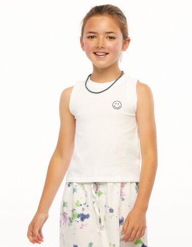 White smile sleeveless t-shirt - Ropa - Nícoli