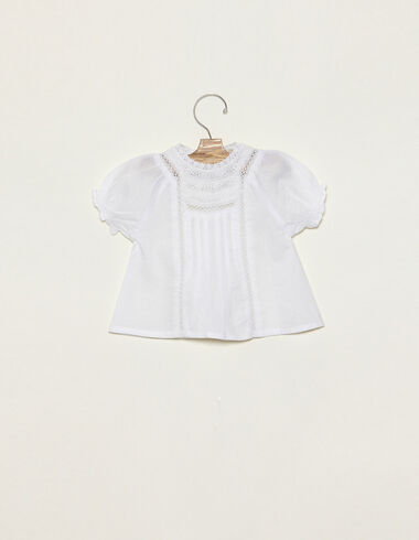 Chemise col dentelles blanche - Chemises - Nícoli