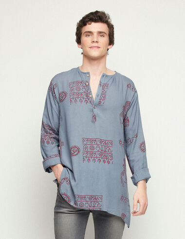 Camisa kurta azul - Traspasos (se oculta) - Nícoli