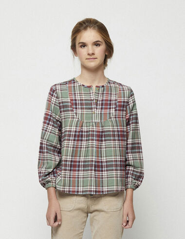 Tartan round neck blouse - New in - Nícoli