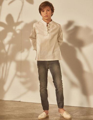 Boy's shirt with pockets - Shirts - Nícoli
