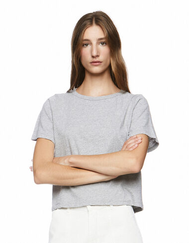 Camiseta manga corta gris - Olivia's Favourites - Nícoli