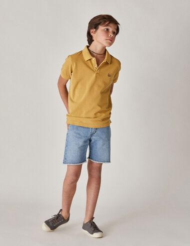 Boy's mustard polo - View all > - Nícoli