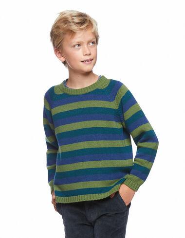 Jersey rayas azul y verde - The Striped Jumper - Nícoli