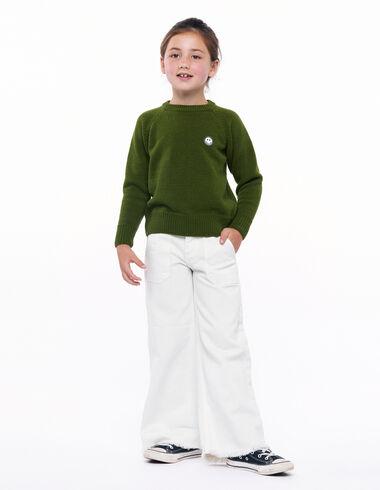 Ecru wide leg trousers pockets - Smile! - Nícoli