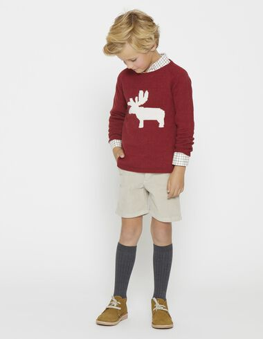 Boy's red rheno pullover - View all > - Nícoli
