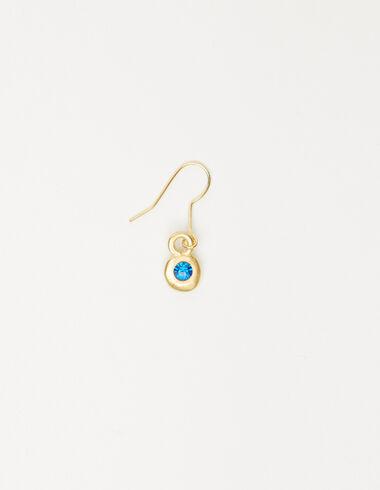 Boucle d'oreille double cercle bleue - Voir tout > - Nícoli