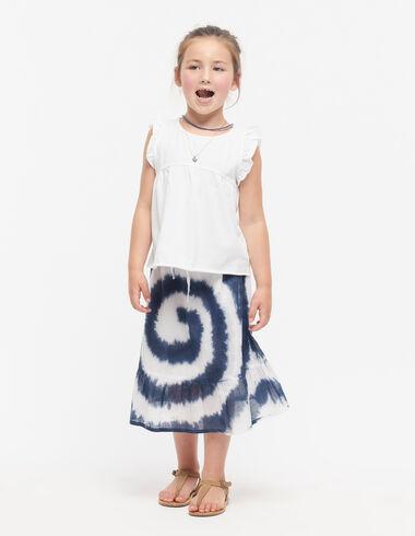 Jupe longue tie-dye bleue - Voir tout > - Nícoli