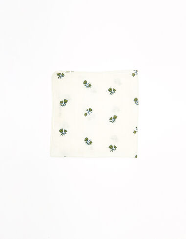 Pañuelo flores verde - New Flower Print - Nícoli
