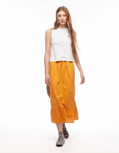Long dark orange skirt - Skirts - Nícoli