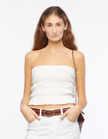 Top fronces blanc - Chemises et Tops - Nícoli