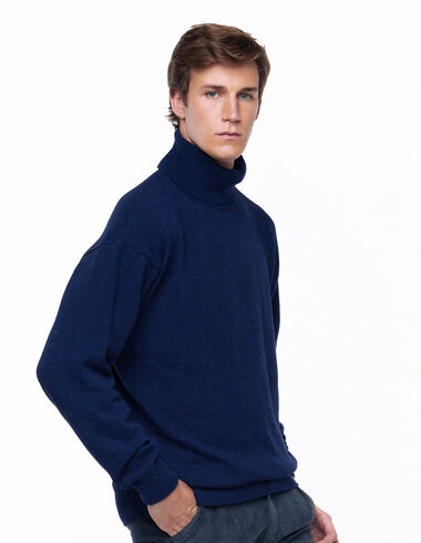 Jersey cuello vuelto azul - Ver todo > - Nícoli