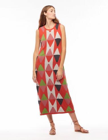 Robe longue losanges orange - Gift Ideas for Mum - Nícoli