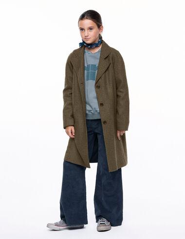 Abrigo solapa tweed verde - Ver todo > - Nícoli