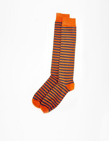 Blue/orange striped socks - Socks - Nícoli