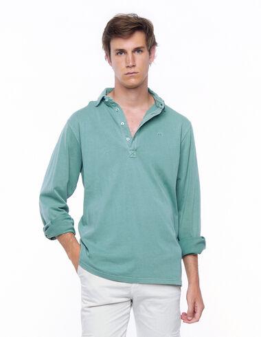 Green long sleeve polo shirt - View all > - Nícoli