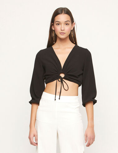 Anthracite shirt with knot - Summer Plans - Nícoli