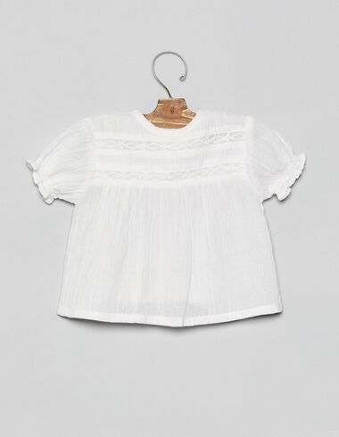 White lace baby blouse - View all > - Nícoli