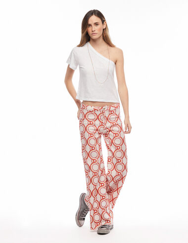 Strawberry geometric print wide leg trousers - A day with Mum - Nícoli