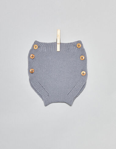 Lavender baby bloomers with buttons - View all > - Nícoli
