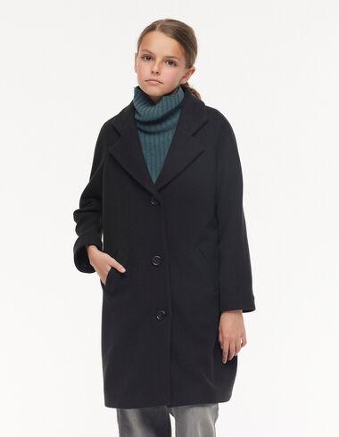 Black lapel coat - Mid-season coats - Nícoli