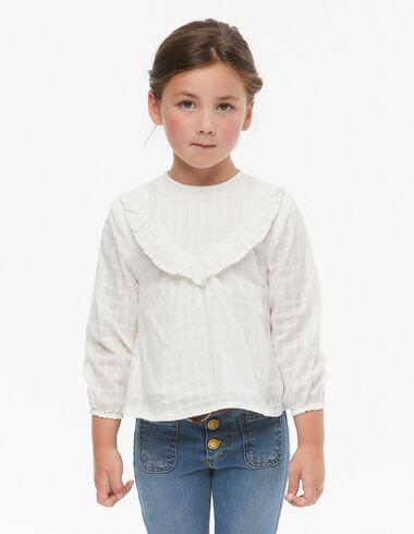 Ecru ruffle blouse  - View all > - Nícoli