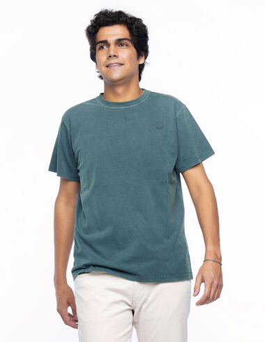 Camiseta smile verde oscuro - Camisetas - Nícoli