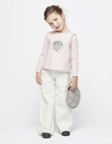 Pantalon large en velours écru à poches - Vêtements - Nícoli