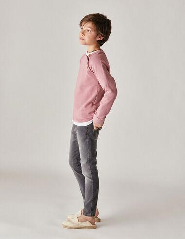 Pitillo niño vaquero gris - Pantalones largos - Nícoli
