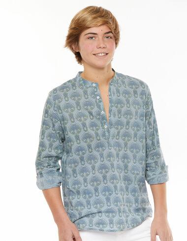 Camisa mao espiga azul - Ver todo > - Nícoli