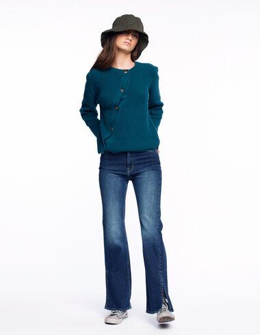 Pantalon wide leg jean bleu foncé - Denim - Nícoli