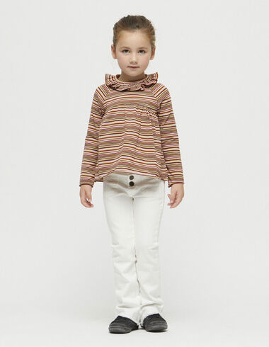 Girl's white flared trousers - Trousers - Nícoli