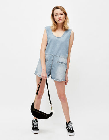 Women's denim playsuit - Playsuits & Dungarees - Nícoli