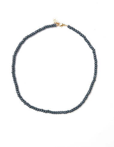 Anthracite beaded short necklace - View all > - Nícoli