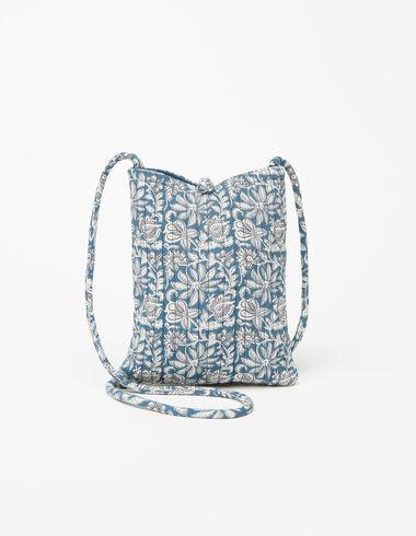 Sac bandoulière fleur bleu - Sacs à bandoulière - Nícoli