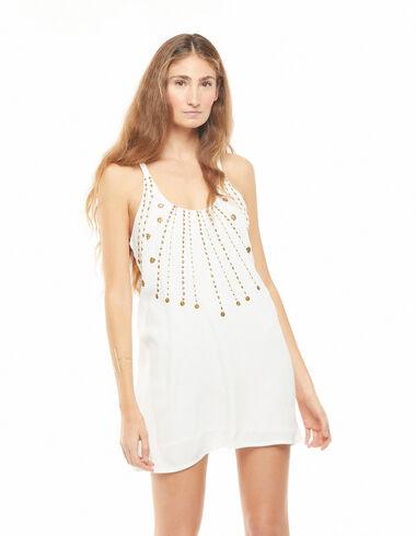 Robe billes dorées blanche - The B&W Dress - Nícoli