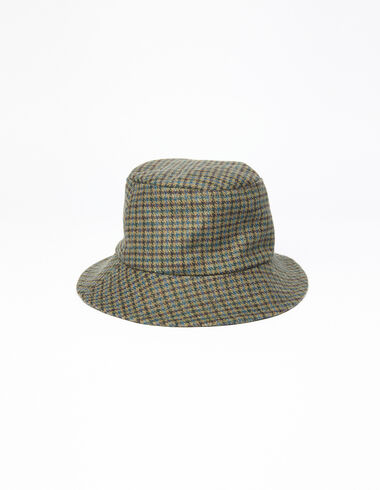 Green tweed girl's hat - All About Socks - Nícoli