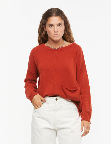 Orange jumper with pocket - View all > - Nícoli