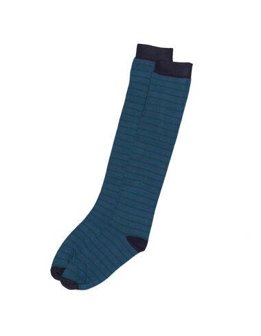 Calcetín raya verde y azul - All About Socks - Nícoli