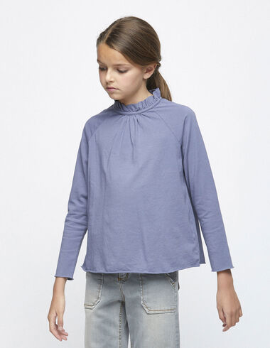 Blue high neck top - T-shirts - Nícoli