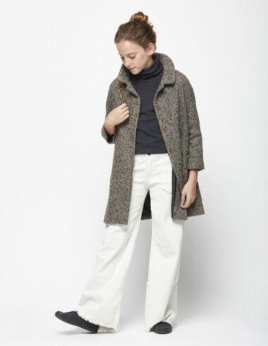Grey herringbone coat - View all > - Nícoli
