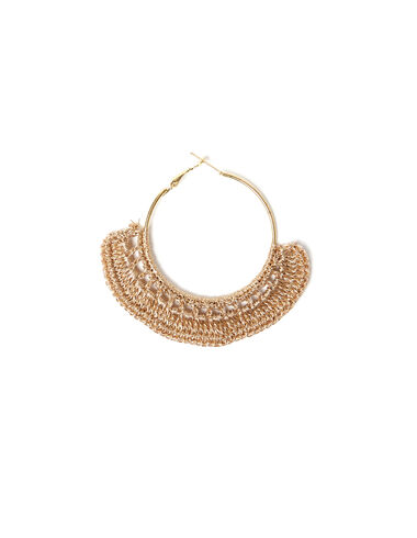 Gold thread hoop earrings - View all > - Nícoli