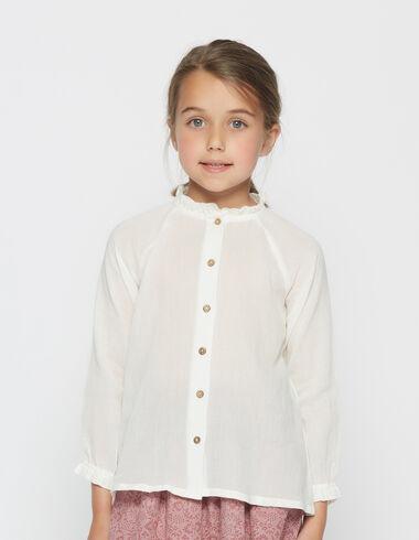 Chemise col perkins pour petites filles - Voit tout > - Nícoli