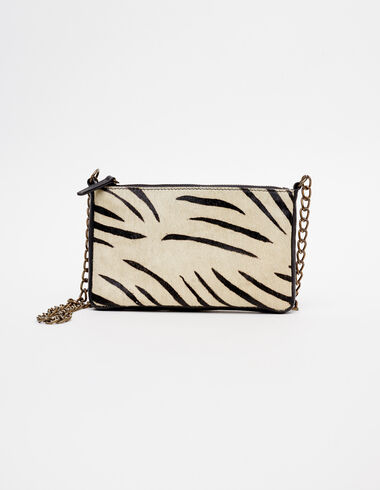 Ecru zebra crossbody bag - View all > - Nícoli