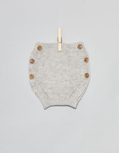 Light grey baby bloomers with buttons - Bloomers - Nícoli