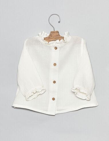 Camisa bebé con cuello perkins - Camisas - Nícoli