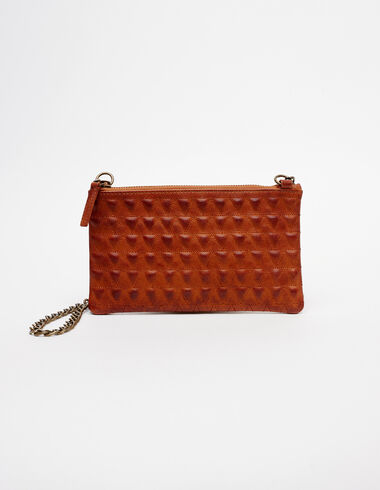 Nut leather bag with triangle details - View all > - Nícoli