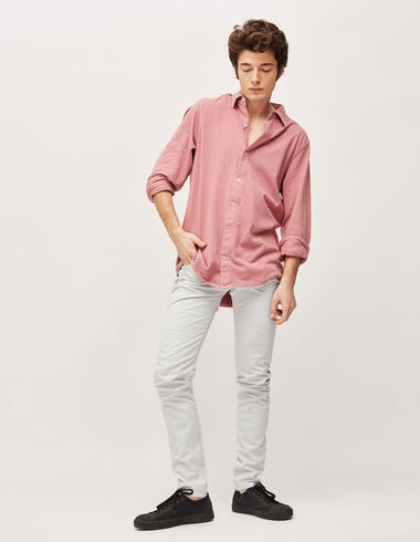 Men's  white 5-pocket trousers - Pants - Nícoli