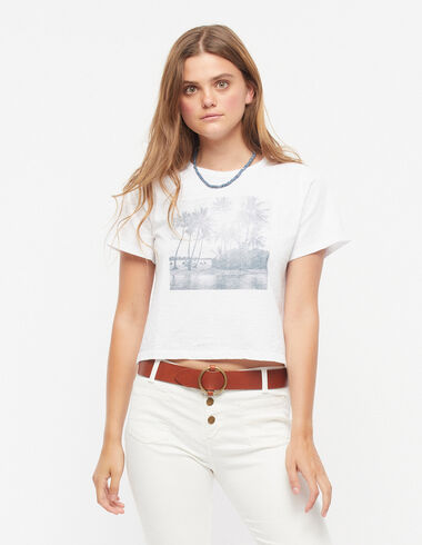 White palm trees t-shirt - Palm Trees - Nícoli